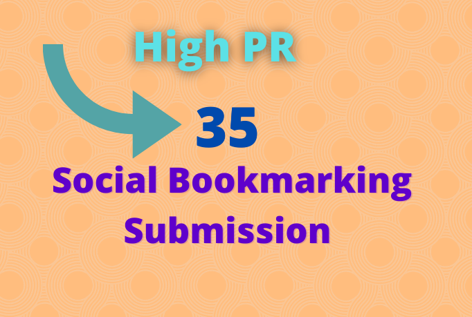 I will provide 35 social bookmarking on high PR backlinks