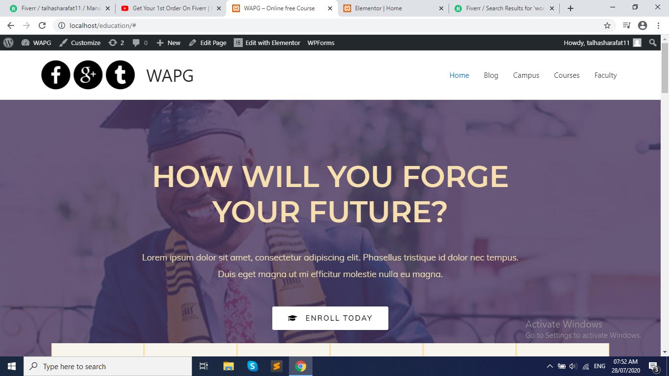 I Have Build a Website on WordPress
