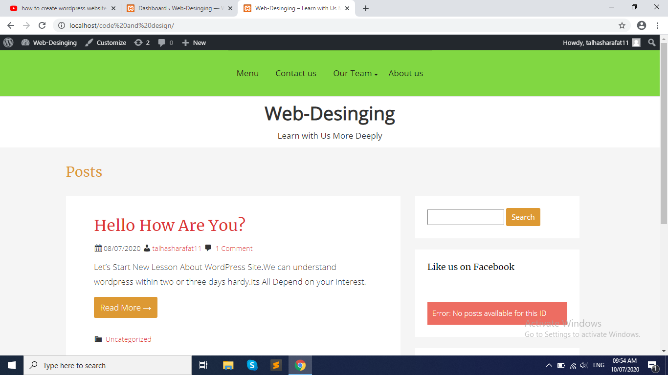 Make A WordPress Website & Remove Fix Bugs