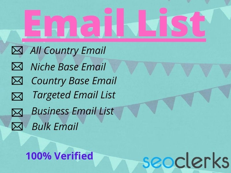 I will Provide a list off 1500 targeted email