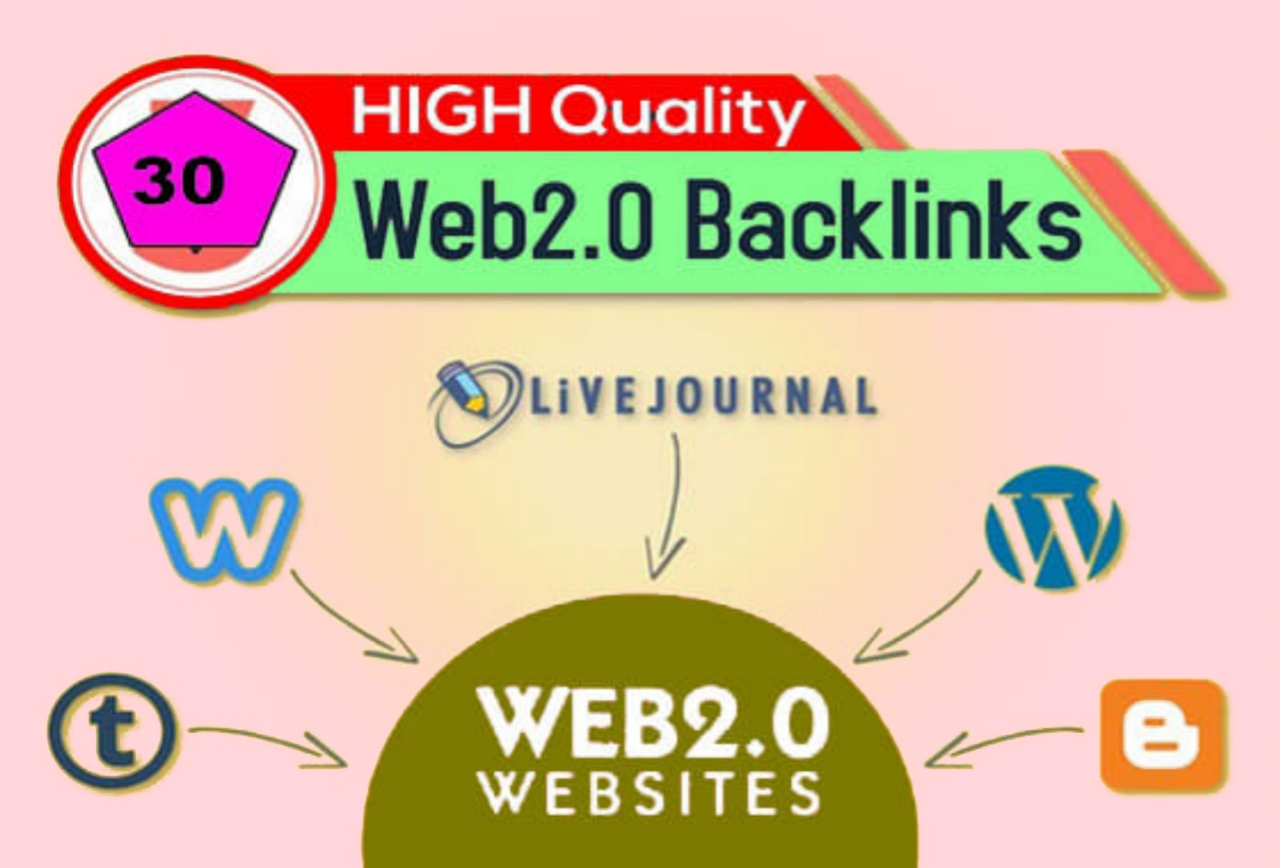 30 Mannual Web2.0 Bcklinks for Your SEO