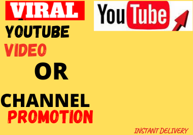 Special Offer YouTube Video Promotion and marketing