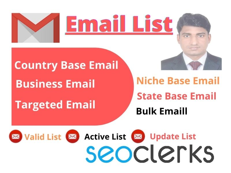 I will provide 2000 USA valid and active targeted email list for business