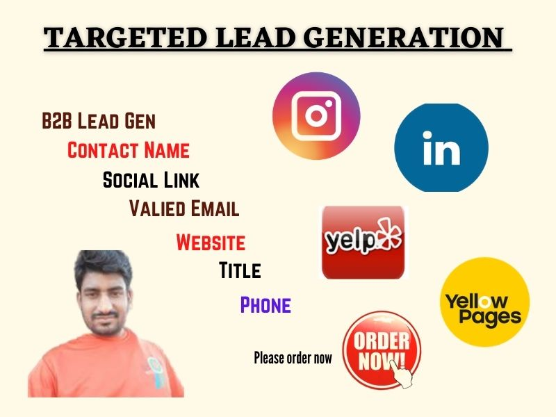 I will provide LinkedIn lead generation and targeted email lists