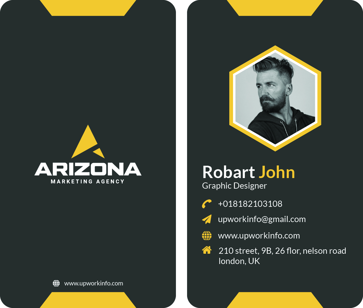 I will be professional business card and stationery