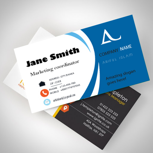 I will create business card design for you