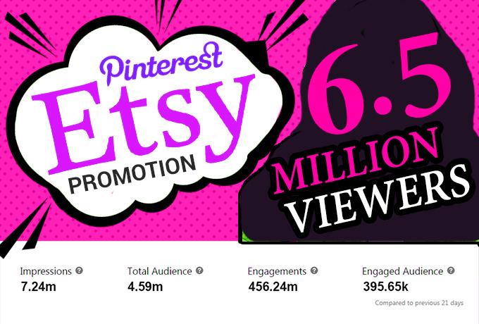 I will drive etsy sales from etsy SEO with etsy promotion,  etsy traffic,  etsy marketing
