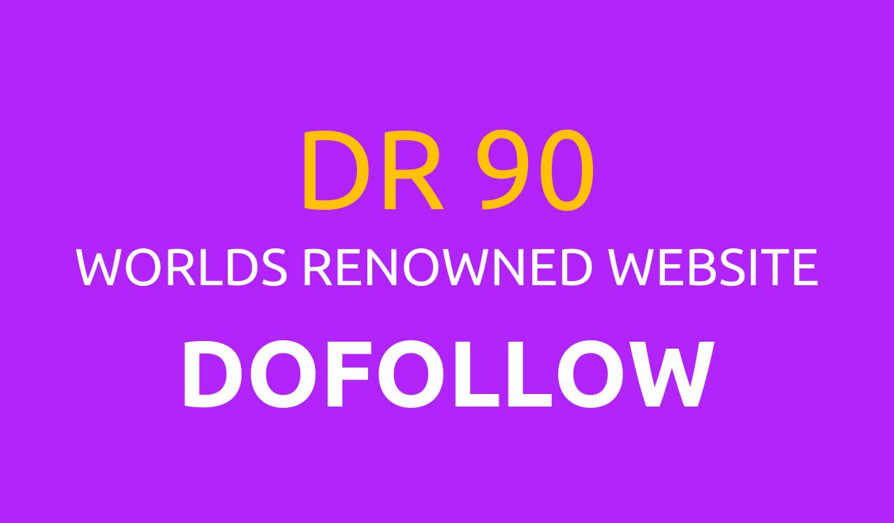 I will manually create 10 Seo Dofollow Backlinks on high DR 90