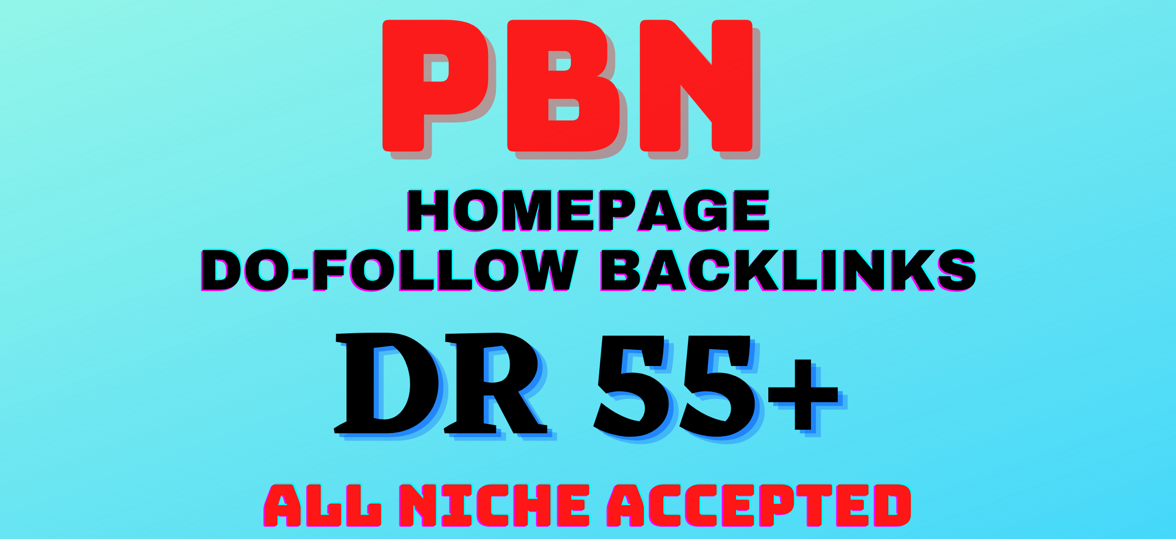 5 high quality homepage PBN backlinks from DR 55+ sites
