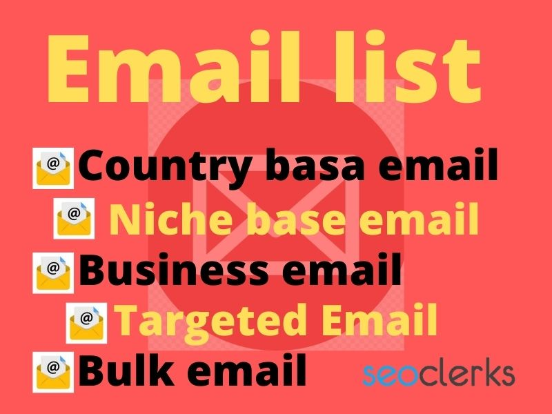 I will provide 1000 Niche email or targetet email or country email list