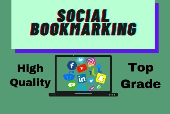 I will do 30+ social bookmarking on high PR backlinks your website