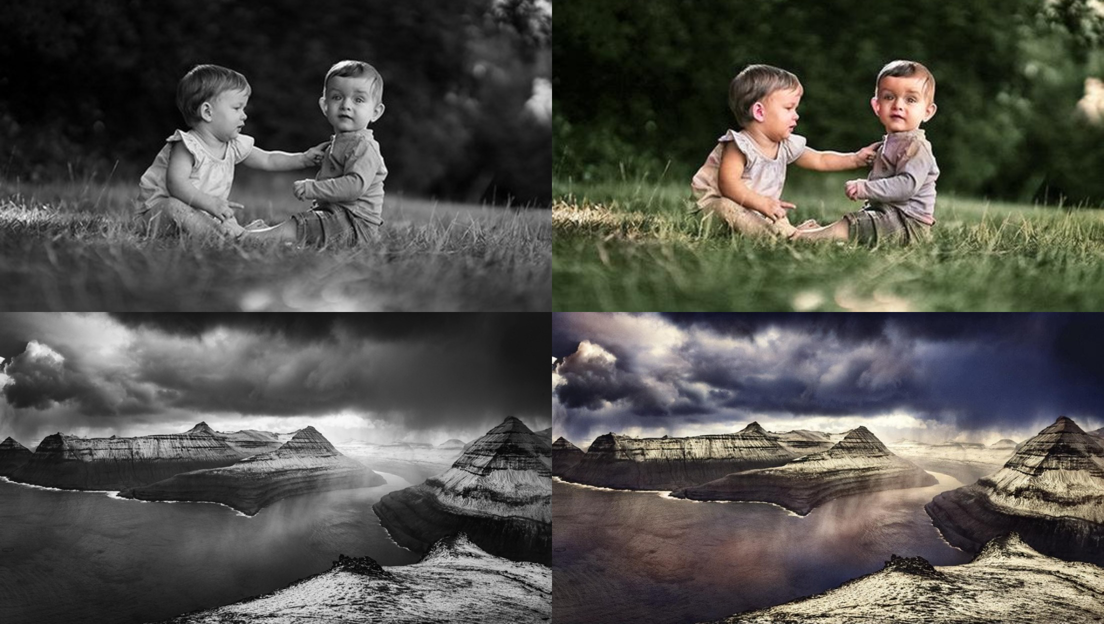 Giving life to your old photos,  coloring black and white pictures