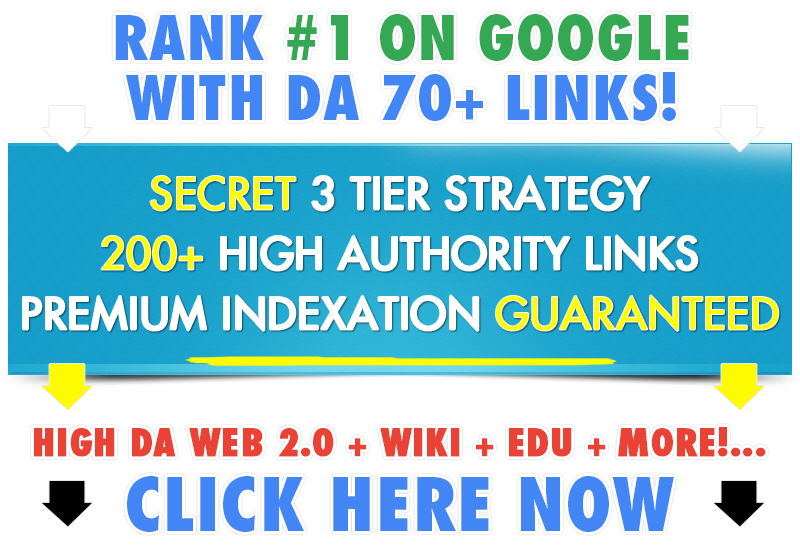 SALE- Rank on Top With 350+ High DA/PA 3 Tier Links