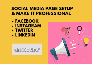 I will setup Facebook Business Page and Social Media Page