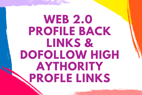 I will create profile backlinks on high page rank site