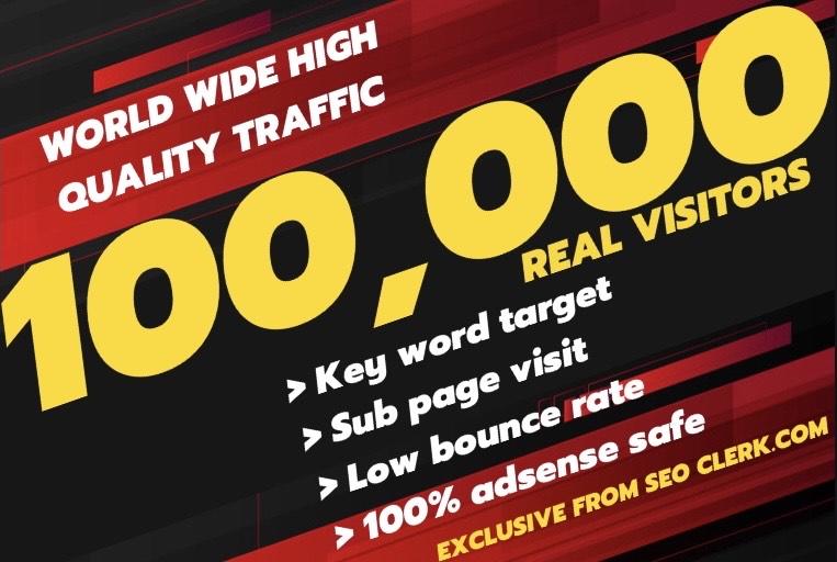 send 100,000 super worldwide keyword target traffic