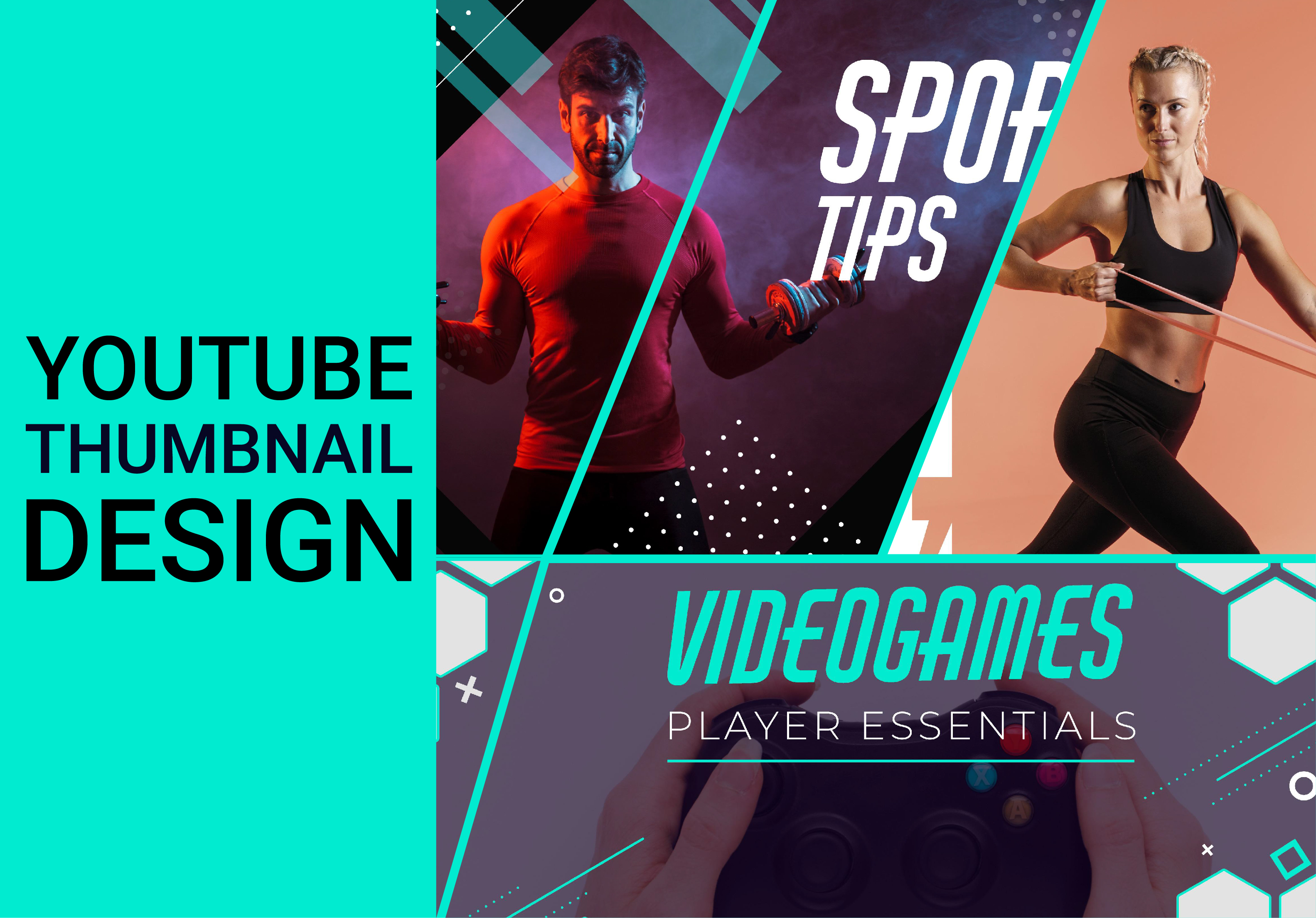 I will create professional youtube thumbnail design