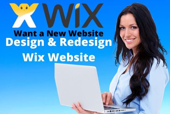 i will design or redesign stunning wix website
