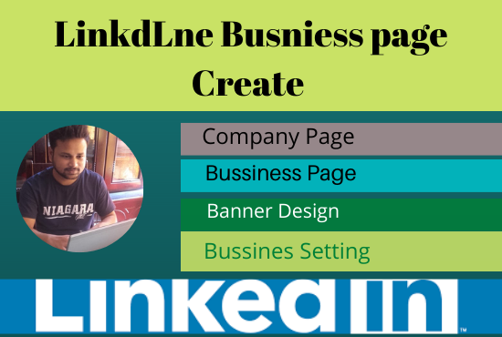 I will do create and setup your linkedin business page