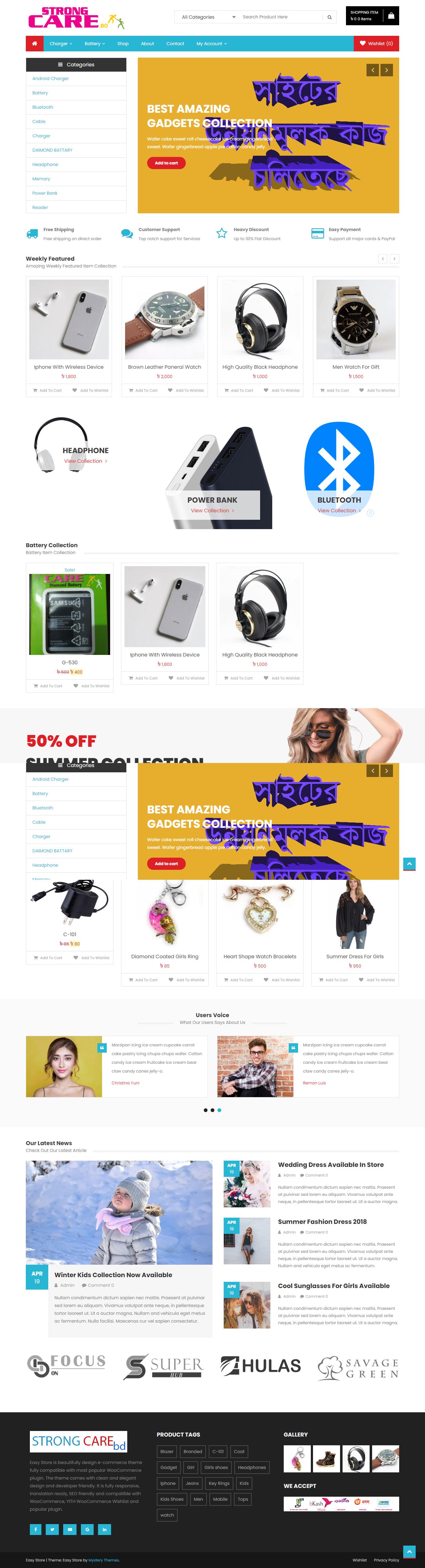 I will create a eCommerce WordPress and woo-commerce WordPress website design