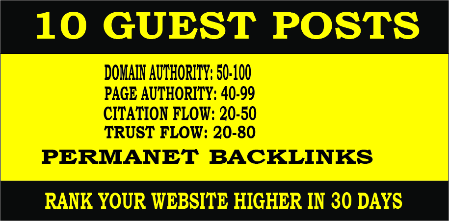 publish 10 HQ guest post on seo Ranking