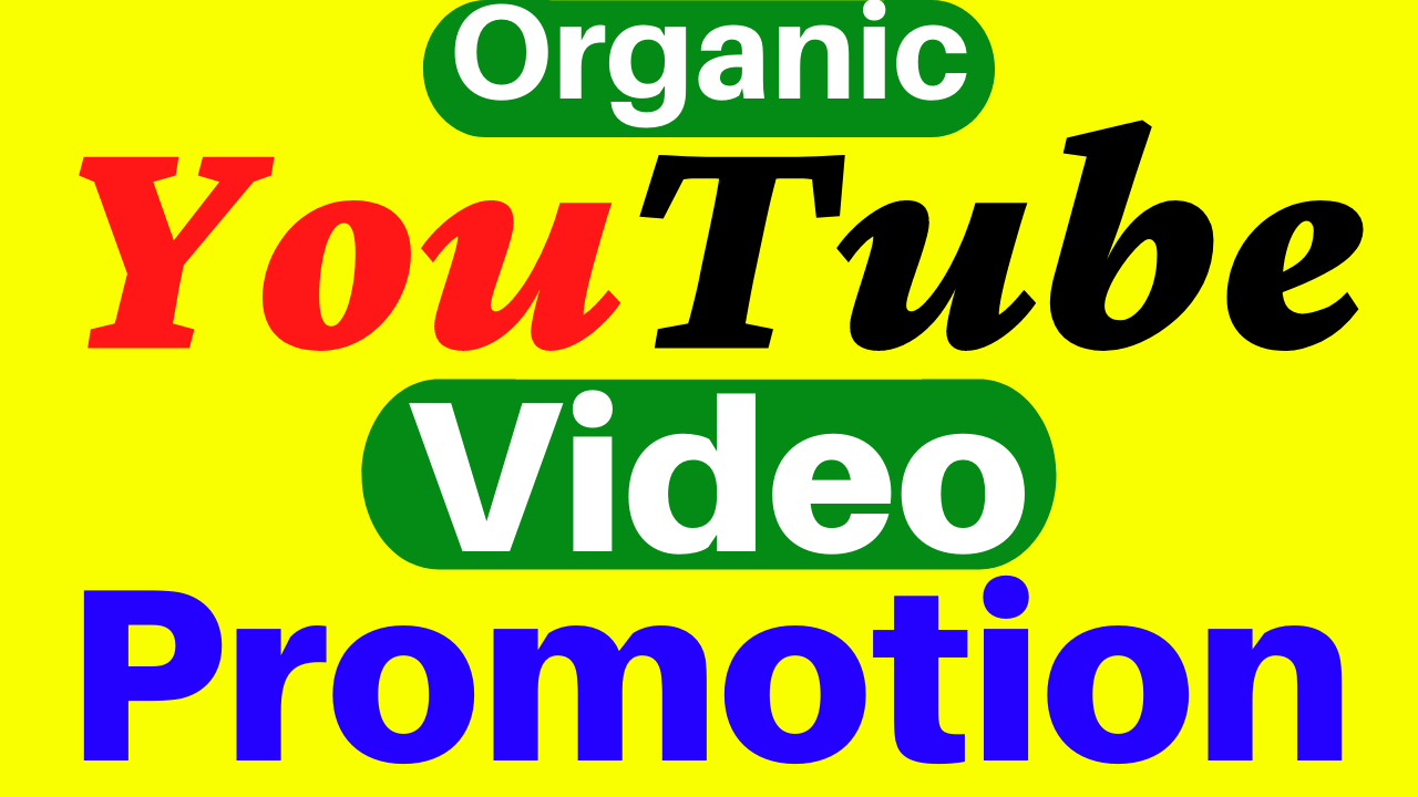 Organic YouTube Video Promotion Marketing With Seo Ranking And Super Fast Delivery