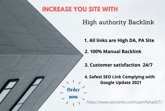 Increase your site with high DA PA 150+ Backlink