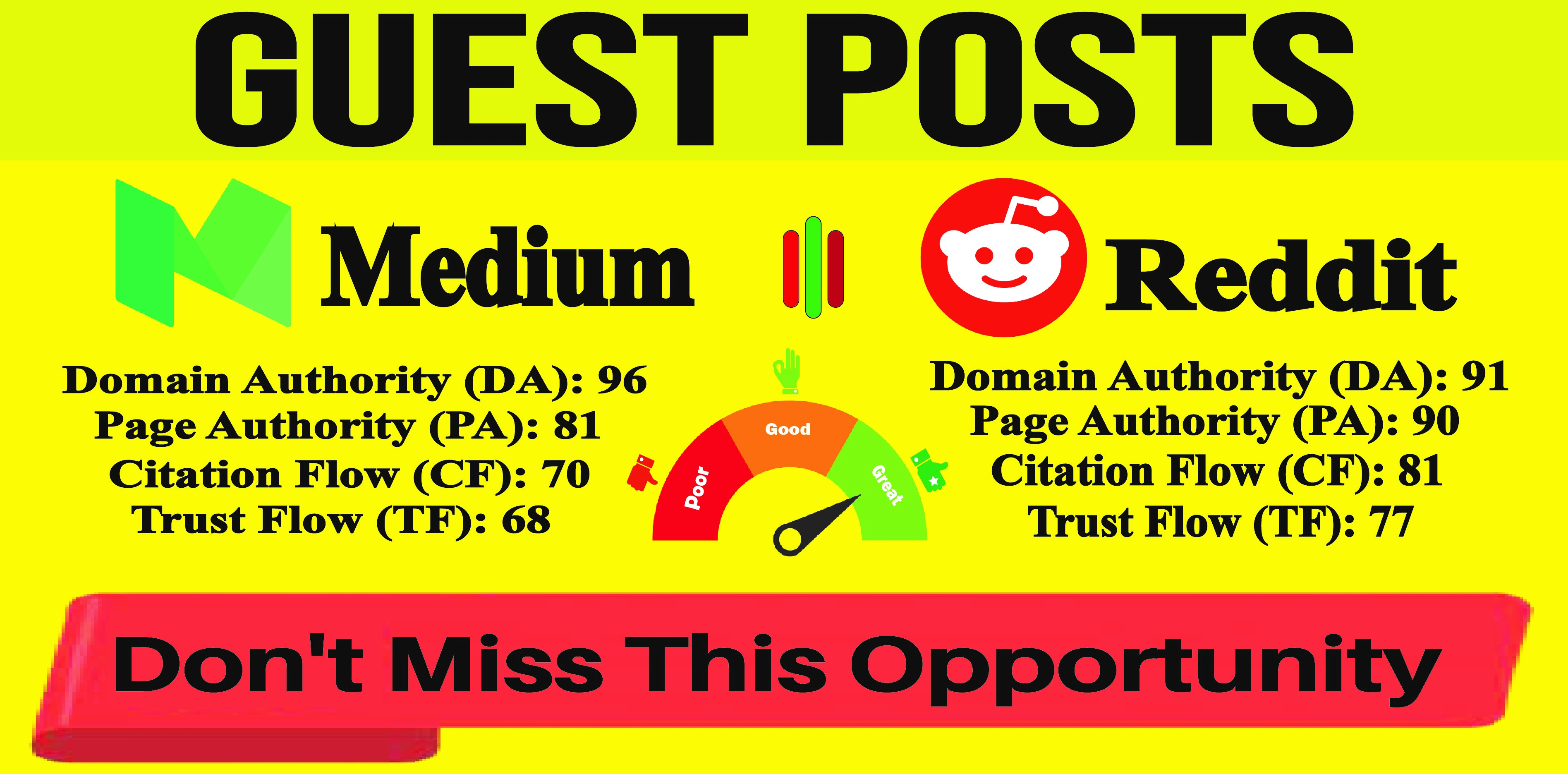 Publish Guest Post On Reddit,  Medium DA90+ Permanent Backlinks