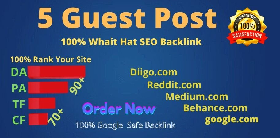 I will publish guest post on multiple High Quality sites DA 80 to 90+