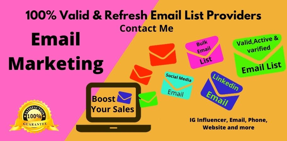 I will Collect the targeted Email Address of your Niche for Outreach your sales