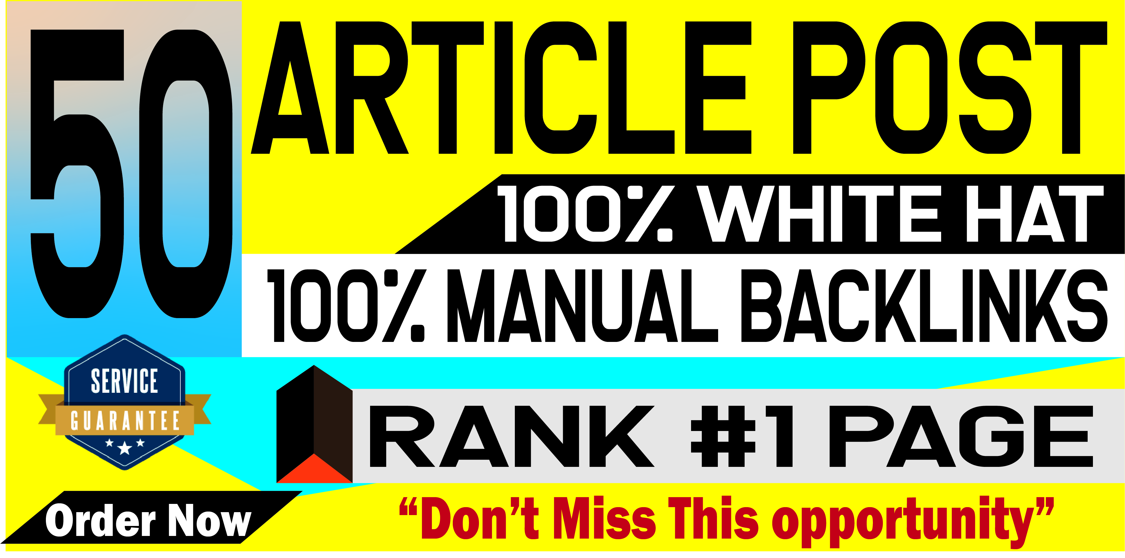 Provide 50 Article Submission With HQ Unique Domain SEO Backlinks