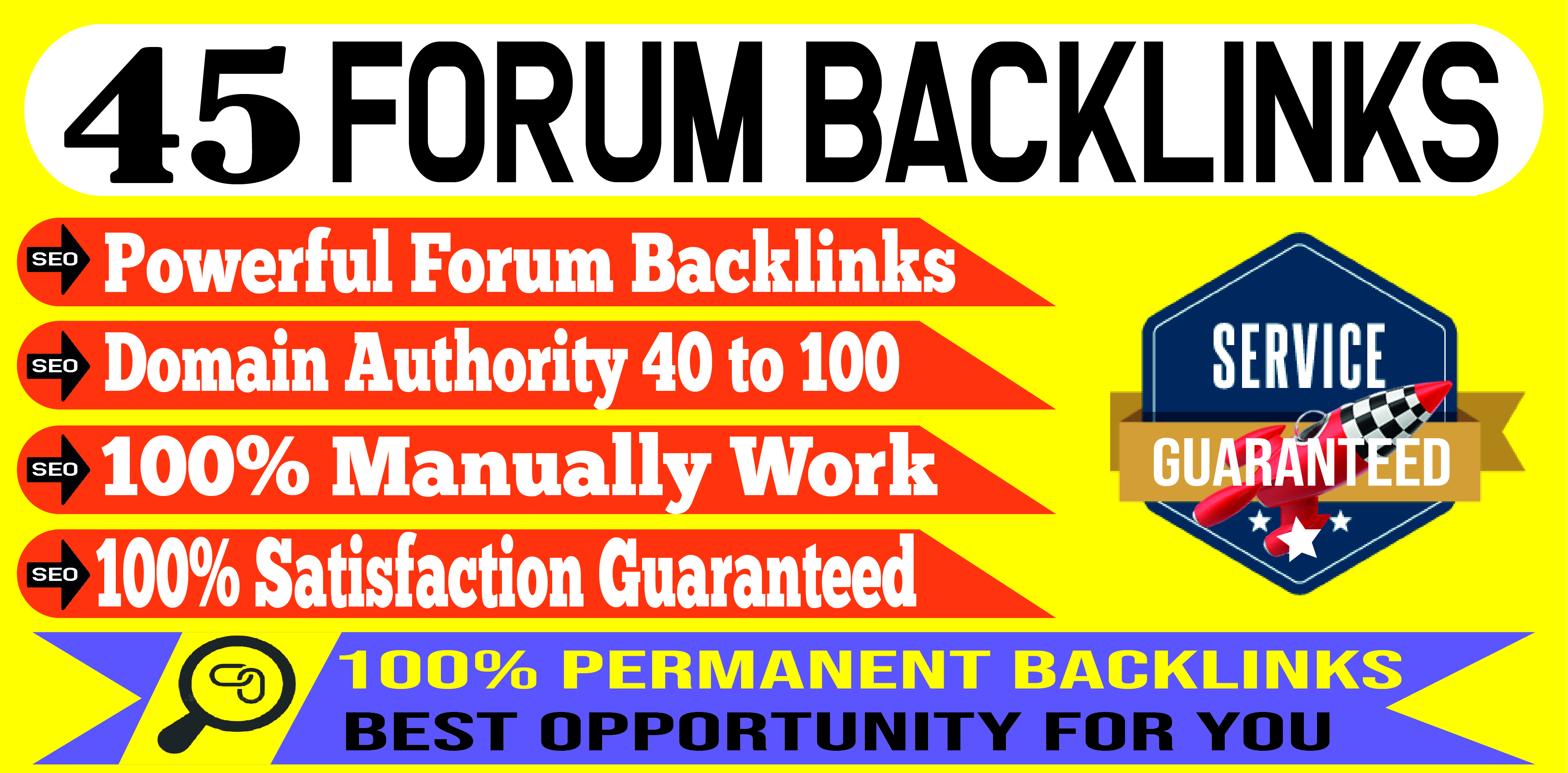 Create 45 Quality Forum Backlinks To Increase Your Website Ranking