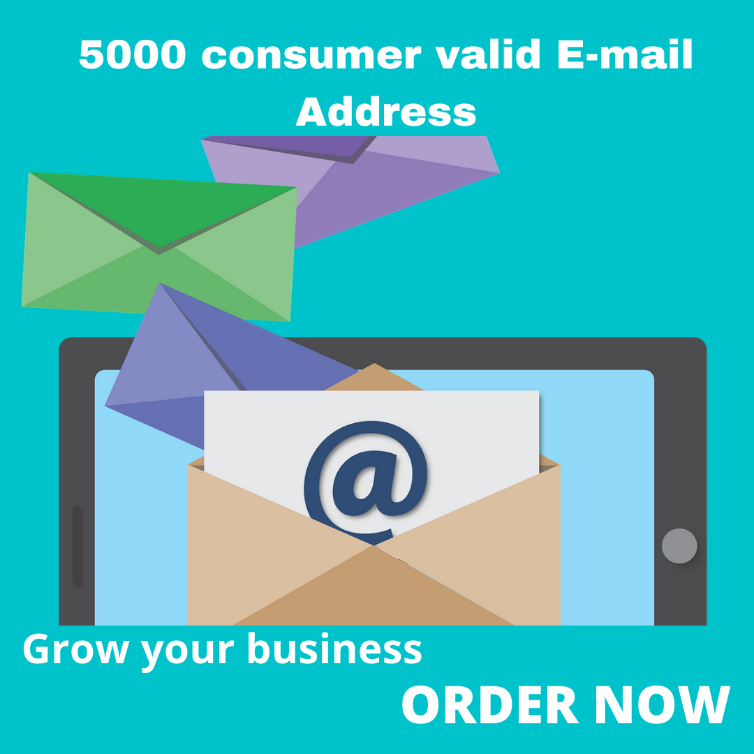 i will provide you 5k consumer targeted email address