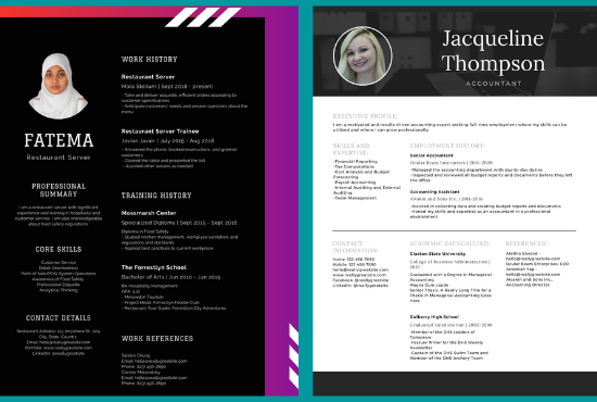 I will make professional graphics design resume and cv
