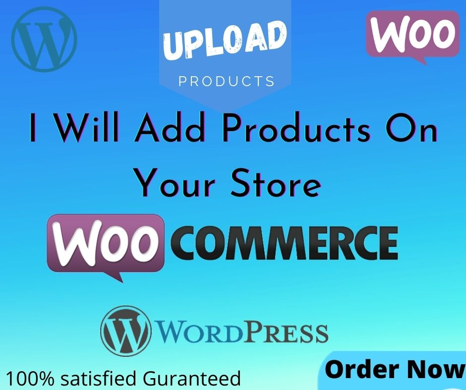 I will add or upload 10 products in your Wordpress Woo-Commerce Store.