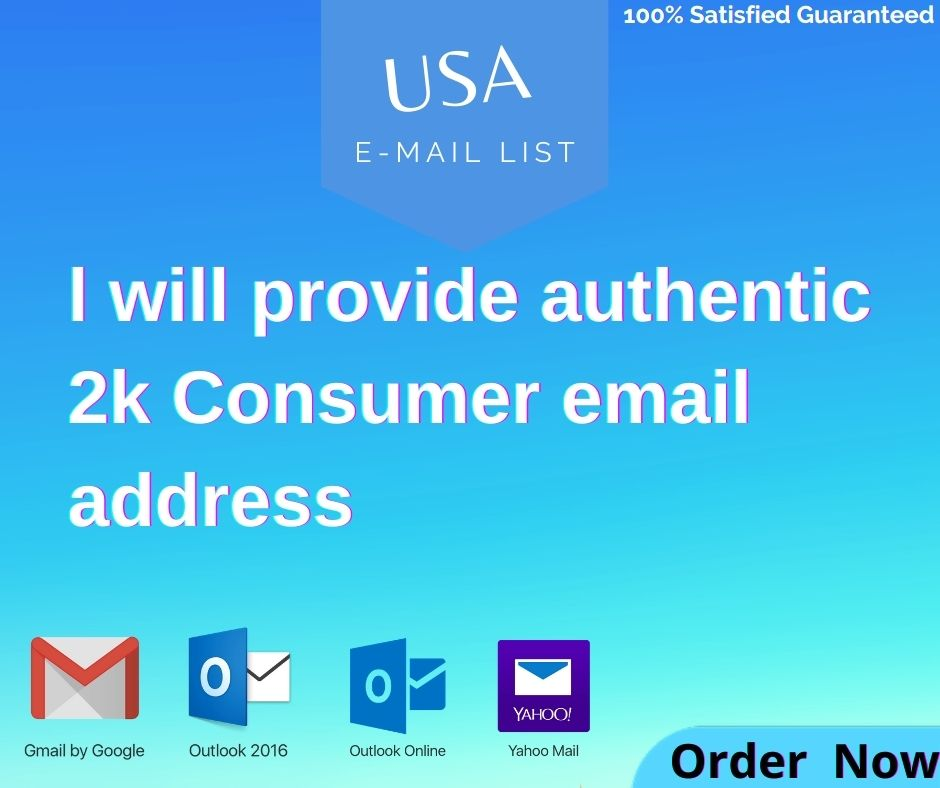 l will provide authentic 2k consumer email address.