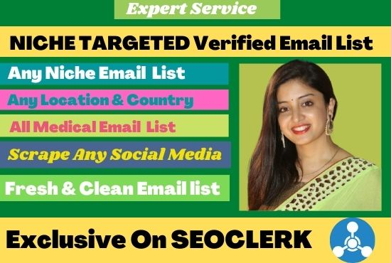 I Will Provide 2k Niches Targeted Valid Email List