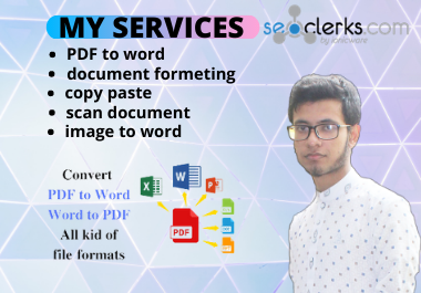 i will do perfectly convert pdf to word,  word to pdf