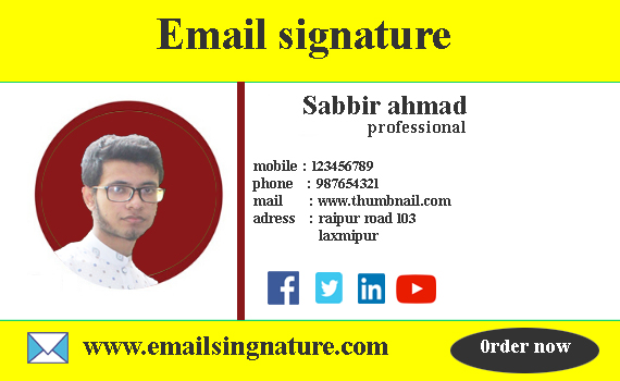 I will design clickable html email signature for your email