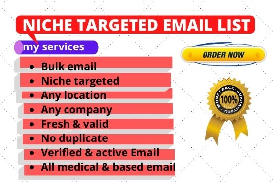 I will collect niche targeted clean verified email for you