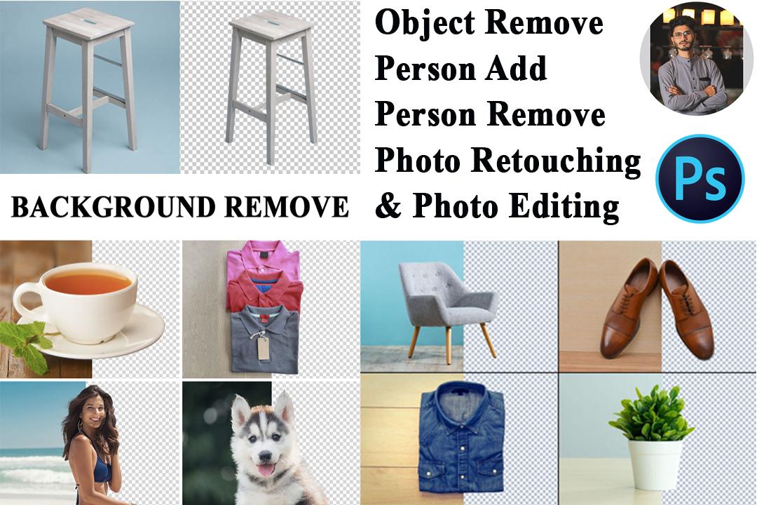 Add or Remove background,  person removed,  photo Editing,  amazon
