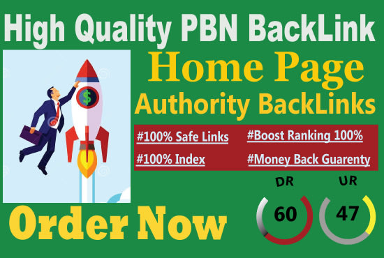 I will make 30 DR 50 to 60 homepage seo backlinks manually permanent