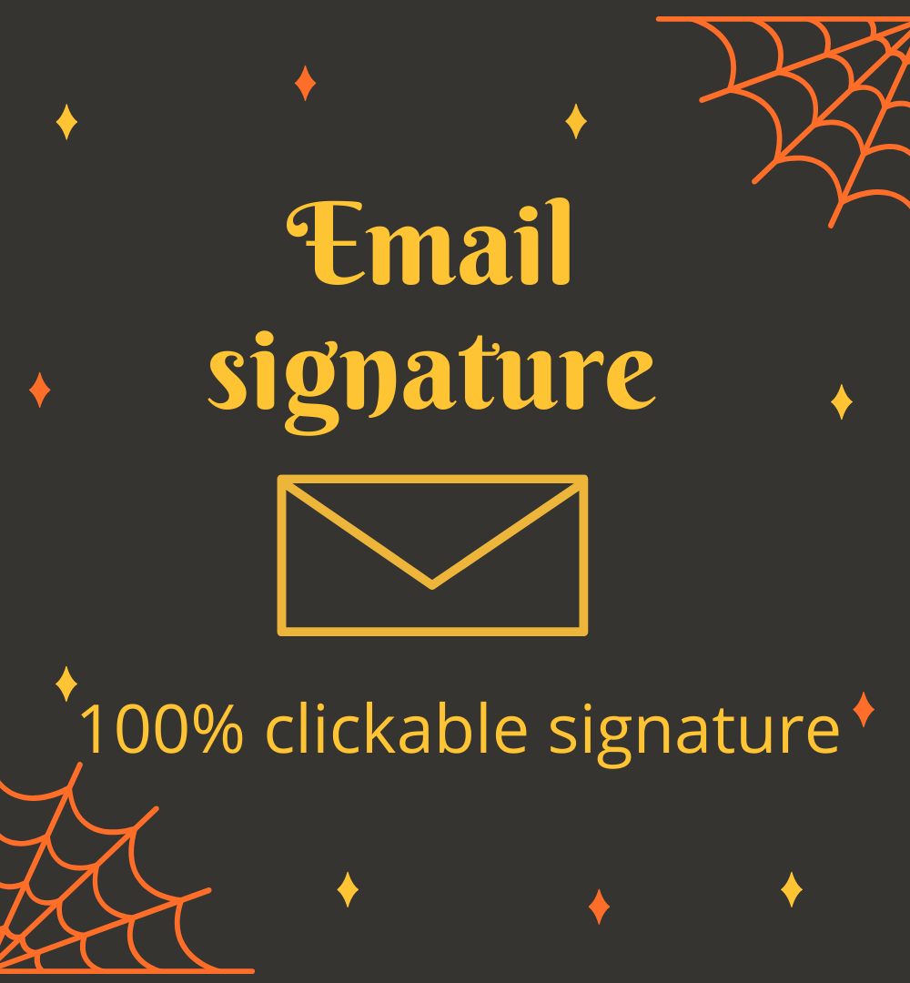I will create the best clickable email signature