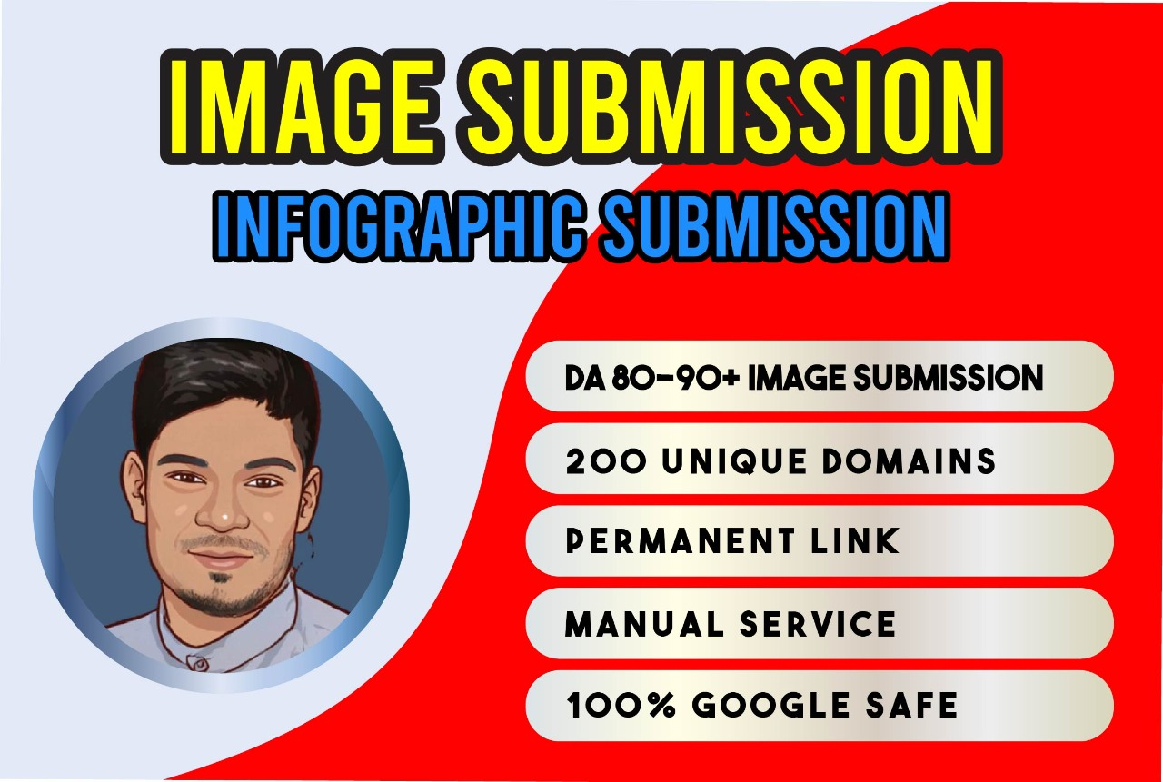 I will do 30 infographic submission and 20 image sharing site backlinks
