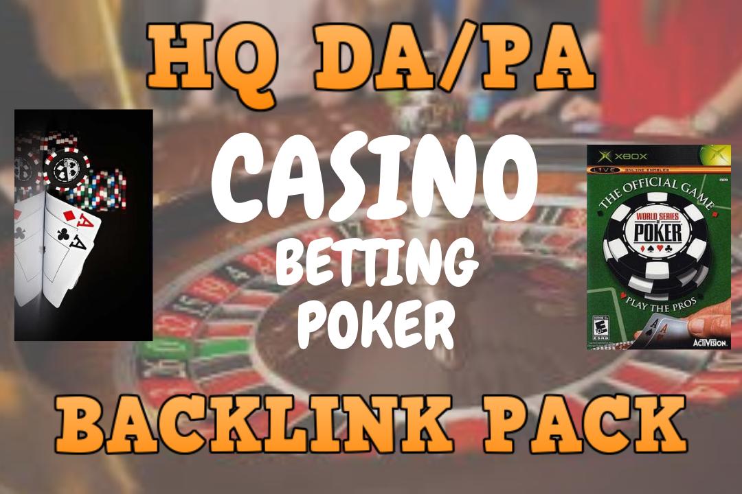 Vast Traffic by 550+ HQ da/pa CAsino, poker, betting & judi MPo SEO backlinks package