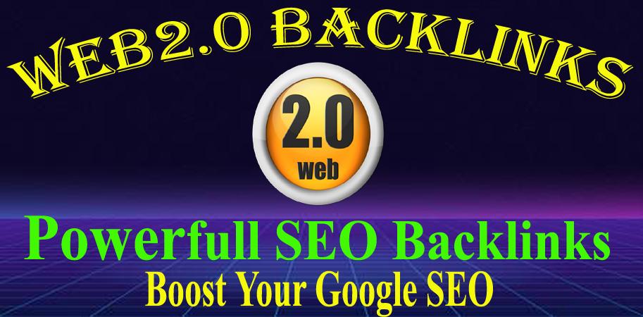 Create Manually 15 High Quality Web2.0 Backlinks.
