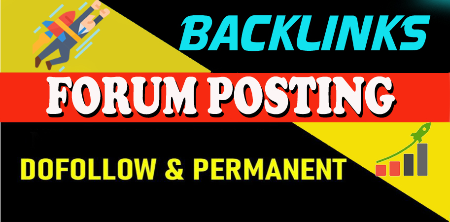 I will Provide Manually 40 HQ DofoIIow Forum Posting Backlinks