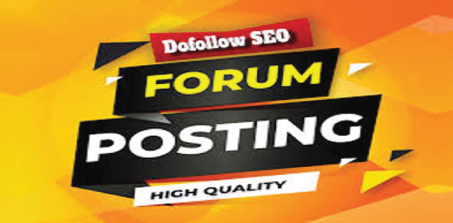 I Will Manually Do 20+ Forum Posting On High Authority Website.