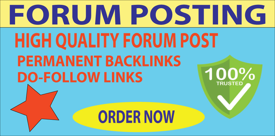 Strong 20 Forums Post On Permanent Backlinks With High DA Sites
