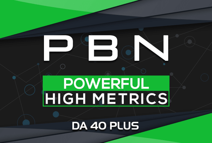 I will build 10 homepage pbn da40 plus high authority backlinks